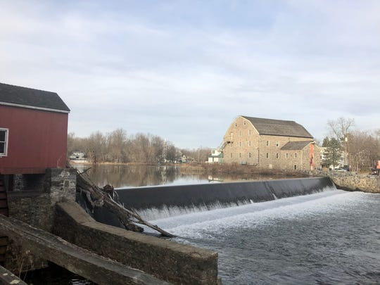 The Red Mill Museum Village overlooks the south branch of the Raritan River.