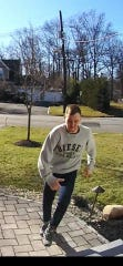 A man wanted in connection with allegedly stealing a package from the porch of a home in Colonia section of Woodbridge.