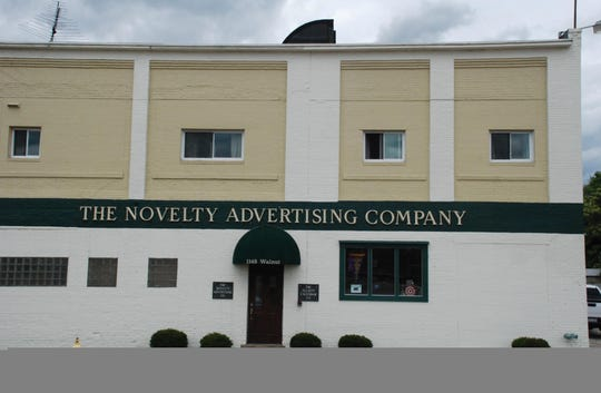 The Novelty Advertising Company located at 1148 Walnut St. has several properties, including that building, up for sheriff's sale on Feb. 28 per a foreclosure case by Home Loan Savings Bank.