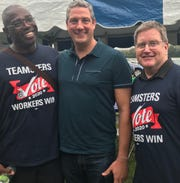 Tim Ryan with some local fans at Waterworks Park
