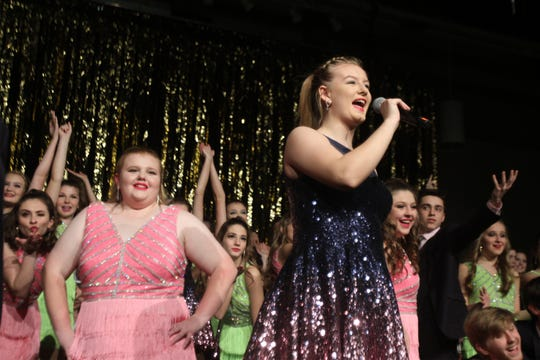 The two Indianola High School show choirs work on a combined number for the annual Cabaret. The Indianola High School Flip Side and Side One show choirs held a dress rehearsal on Jan. 27 for their annual Cabaret.