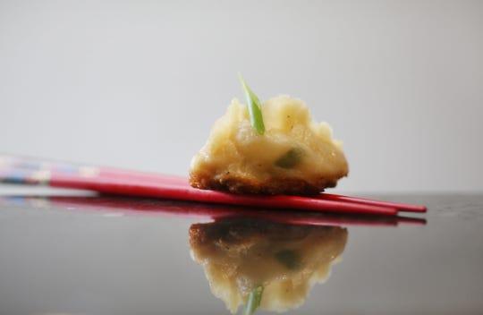 Pork and shrimp dumplings.