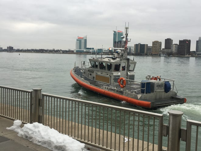 U.S. Coast Guard boat, pictured on the Detroit River on Jan. 30, 2020.