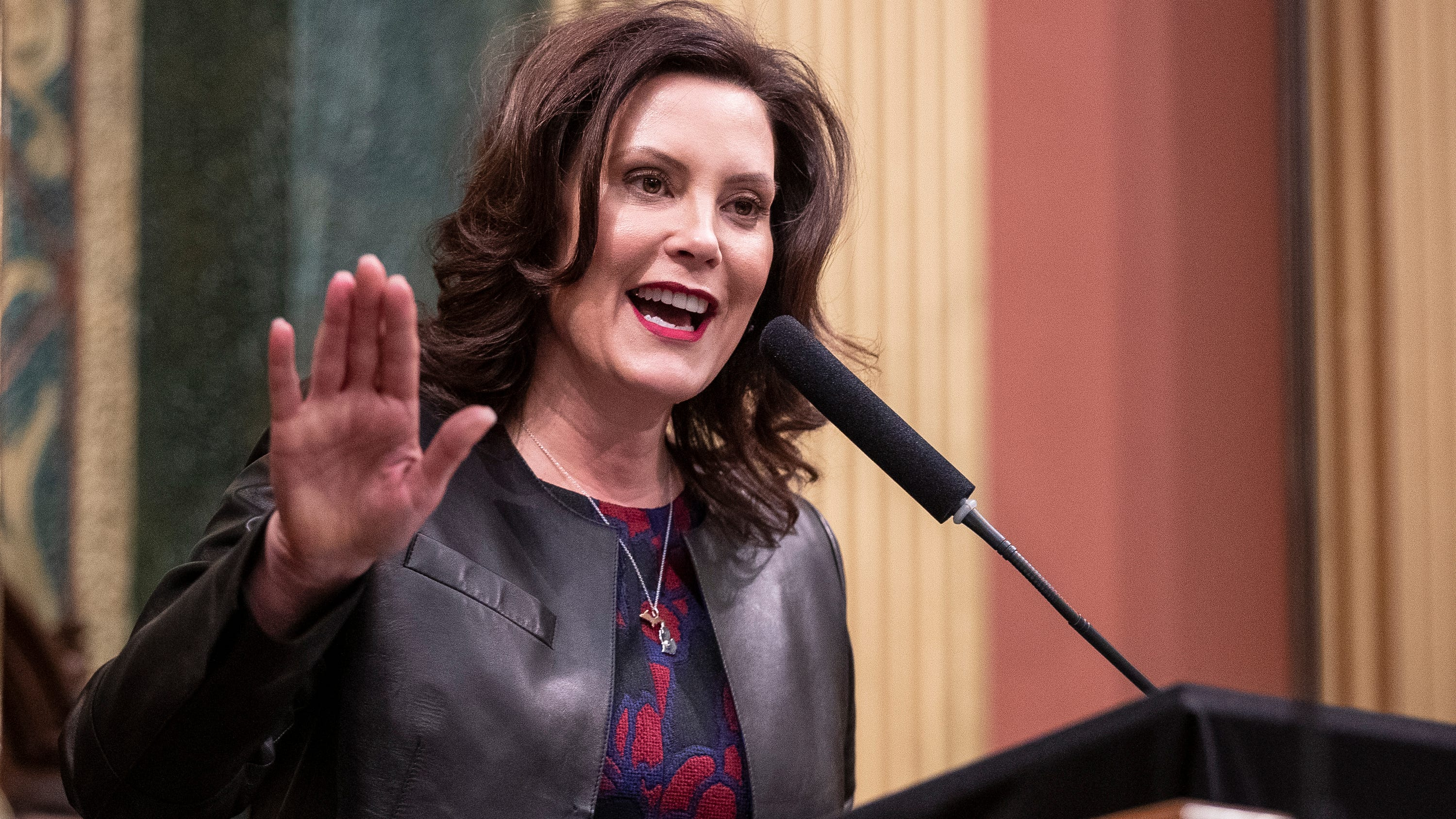 State Of The Union Gretchen Whitmer Goes After Trump On Health Care