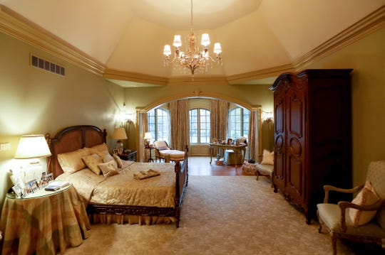 The large bedroom of the master bedroom suite inside this 8,926 square foot home in Grosse Pointe Shores.  The house built in 2002 has 5 bedrooms, 6 1/2 bathrooms. Photographed on Tuesday, January 28, 2020.