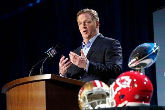 NFL commissioner Roger Goodell said the league needs change to its minority hiring policy.