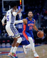 Derrick Rose (25) is having a resurgent season in his first with the Pistons, with 18.9 points and sixassists per game.