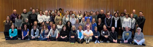 Alumni and current students of Beaumont's mindfulness program gather for an all-day silent retreat.