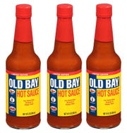 Image of Old Bay hot sauce package of three, which sold out quickly online, from  McCormick & Company.