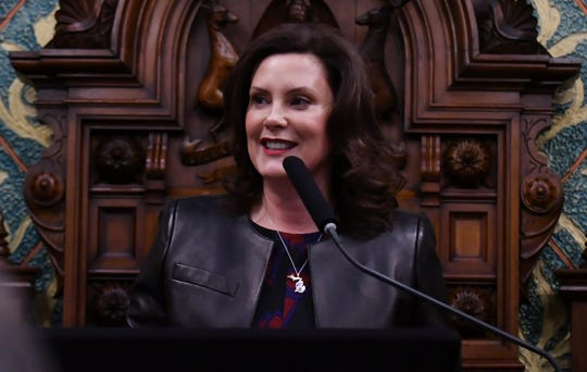 Gov. Gretchen Whitmer gives the State of the State address.