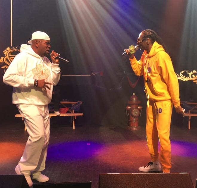 Rapper Trick Trick and Snoop Dogg perform at The Fillmore.