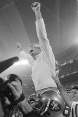 Coach Bill Walsh won the first Super Bowl for the 49ers in 1982 at The Silverdome.