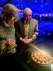 Jane and Richard Manoogian celebrate her birthday at the Roostertail.
