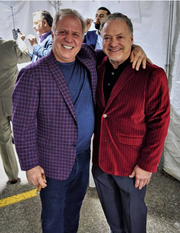From left, Rick DePanicis and Tom Celani at Cicchini Custom Clothier.
