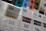 Juul products at a smoke shop in New York.