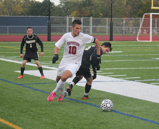 Alex Varkatzas finished his Elmira high school career with 64 goals.
