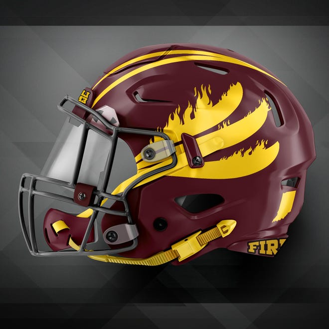 Indiana Firebirds helmet
