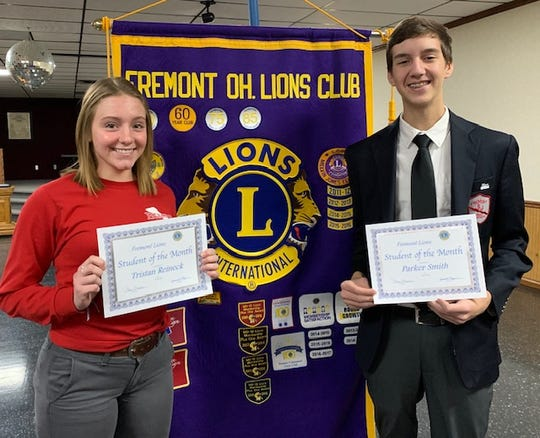 Tristan Reineck, left and Parker Smith are Fremont Lions Club Students of the Month.