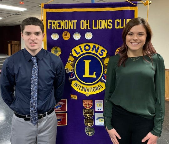 Fremont Ross High School students Zach McNutt and Hayley Lawrence were recently honored by the Fremont Lions Club.