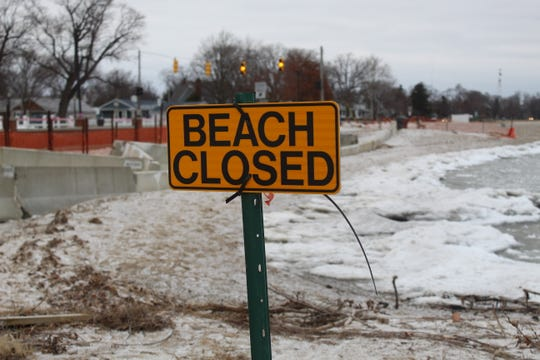 Port Clinton city beach remains closed, as city officials try to find funding to encase an exposed power conduit in concrete and bury it deeper on the beach. The city has struggled with beachfront erosion and flooding issues with Lake Erie's record high water levels.