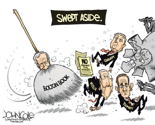 Bolton book sweeps impeachment trial.