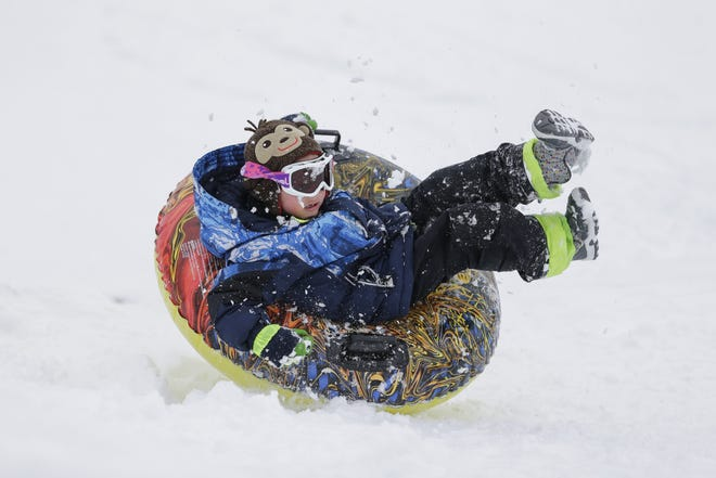 Sledding opportunities abound in Central Wisconsin.