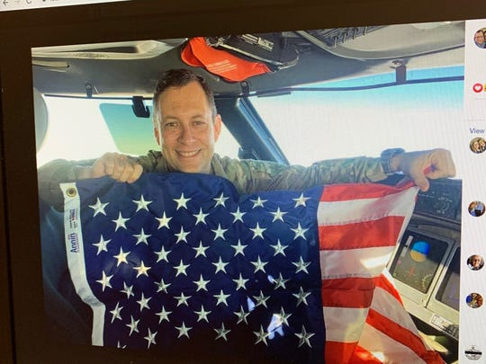 This photo of Air Force Lt. Col. Paul Voss was posted by his wife Thursday on her Facebook page.