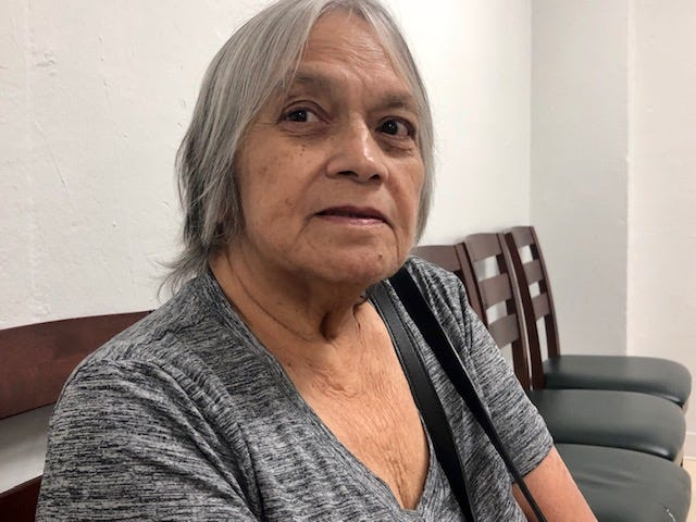 World War II survivor Dorothea P. Pereda, 80, shares her family's war experiences and her thoughts about war reparations, nearly 76 years after the war, at the Guam War Claims Processing Center in Tamuning on Jan. 30, 2020.