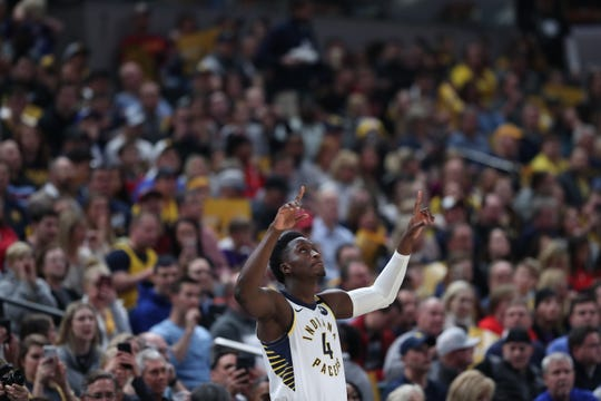 Victor Oladipo plays for the Indiana Pacers on Jan. 29, 2020. He missed more than a year because of injury.