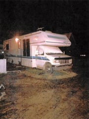 Jacob Blair Scott was believed to be living in this camper.