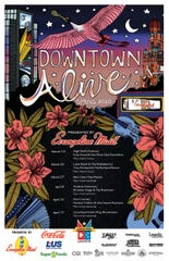 Downtown Alive! highlights local artists in every aspect. Cayla Zeek, Lafayette native, created this year's poster.