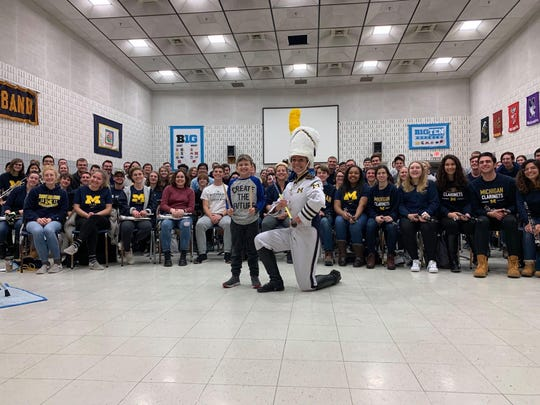 Howell boy Henry Boyer, 9, met the University of Michigan Marching Band at the campus in Ann Arbor earlier this month as part of a CBS News segment. The news organization helped Boyer meet the band after Boyer sent the band a letter in December expressing love for the band's music and a video of his reaction to receiving a response from the band went viral.