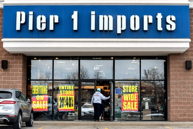 The Pier 1 Imports at 647 Marketplace Blvd., photographed on Thursday, Jan. 30, 2020, is set to close.