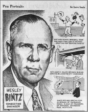 A Lansing State Journal artist tells the story of Wesley Bintz in the July 13, 1958 edition.