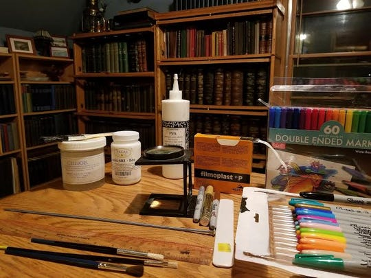 Do-it-yourself book restoration tools.