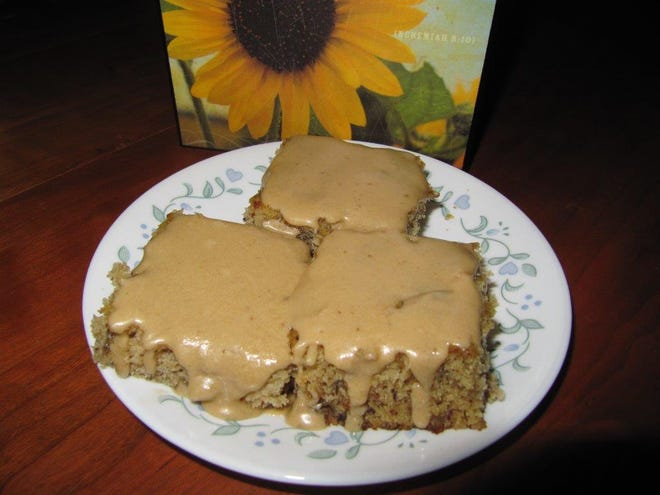 Julia recently made banana cake with caramel icing. The recipe is shared in this week's column.