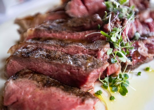 For a special occasion like Valentine's Day, consider ordering a 28-ounce porterhouse steak at Folk's Folly Prime Steak House.