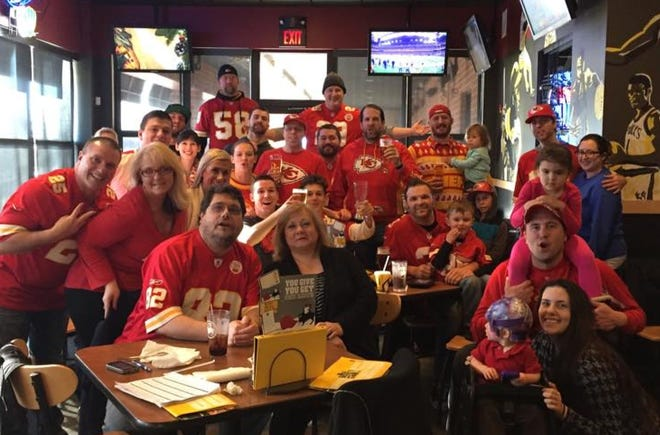 A group of Milwaukee-area Kansas City Chiefs fans meets at Buffalo Wild Wings in Brookfield for every game.