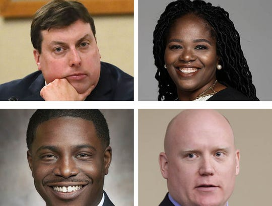(Clockwise from upper left) Rep. Mark Born, R-Beaver Dam; Sequanna Taylor, Milwaukee County supervisor and MPS director; Caleb Frostman, Workforce Development secretary; and Rep. David Crowley, a candidate for Milwaukee County executive.