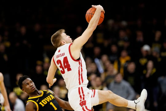 The Big Ten suspended Wisconsin junior guard Brad Davison olne game after he was assessed a Flagrant 1 technical foul against Iowa.