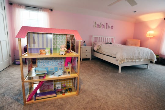 Madeline Bergholz, 4, loves pink, as reflected by her room.
