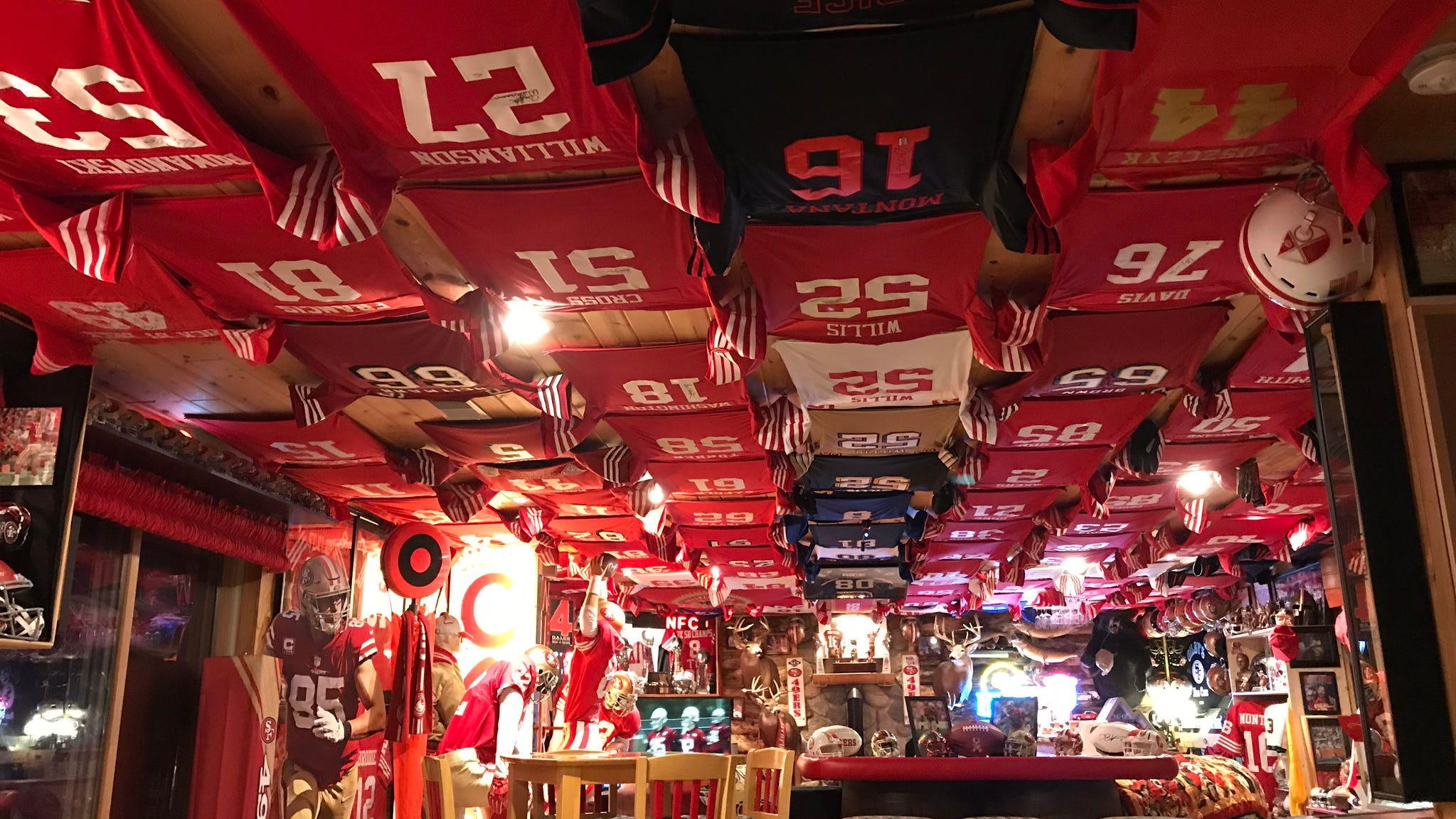 A Wisconsin man has a legendary San Francisco 49ers man cave