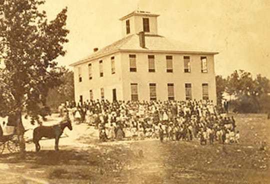 Alabama State University campus photographed in 1880.