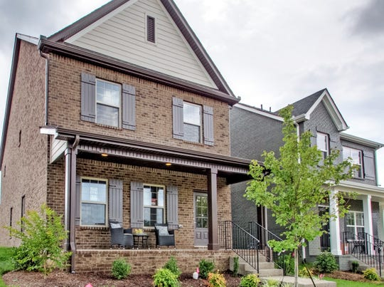 Houses built by Goodall Homes in Gallatin's Carellton subdivision have varied exteriors, which makes for an attractive streetscape.