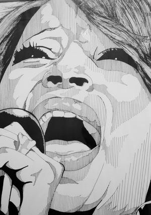 Portrait of Mary J. Blige by Oliver Phipps at Naples Art