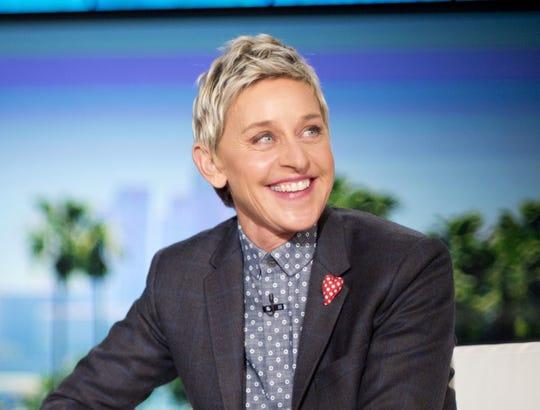 "Ellen Degeneres appears during a taping of ""The Ellen DeGeneres Show,"" in Burbank, California, on Feb. 11, 2016."