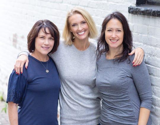 Qwell Meditation & Wellness Studio owners Kelly Lezynski, Shannon Albarelli and Marcie Handler.