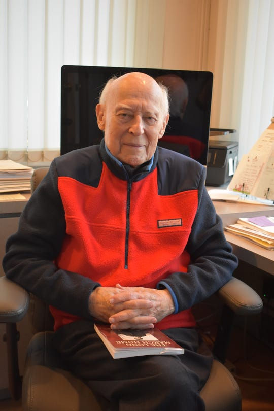"""Robert Max, a Jewish World War II veteran, survived Nazi slave labor after he was captured at the Battle of the Bulge. He escaped with two other American soldiers and wrote a book, """"The Long March Home"""" about his experiences."""