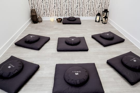 Meditation room all ready for guests.