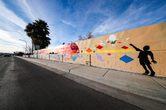 "A mural at the corner of Idaho Avenue and Luna Street in Las Cruces honors Jesus ""Jessie"" Robledo, who was hit and killed by a drunk driver at that corner in June 1995. Jessie was 5 at the time. The mural was completed by artists Robert Azure and Cameron Vigil in January 2020."